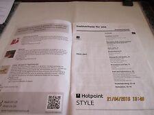 Hotpoint Model WMYL 6351 machine à laver Instruction Book