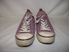 UGG Australia Womens 6.5 'Evera' Purple Canvas/Suede Shearling-Lined Sneakers