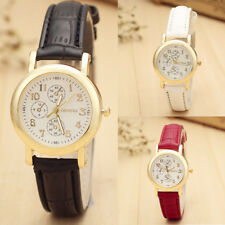 Unique Fashion Mens Women's Retro Watches Leather Band Analog Quartz Wrist Watch