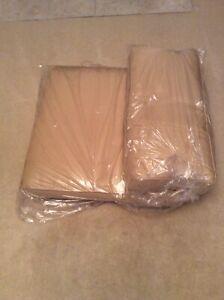 Tan 2-piece Cushion Set Seat 25 X 25 X 5,  Back 12 X 25 X 5