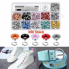 300 Set 5mm Metall Mehrfarbig Ösen Werkzeug für Kleidung Leder Schuhe Hüte 01