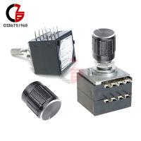 100K Log ALPS Audio Amp Volume Control Stereo Potentiometer +Rotary Knob