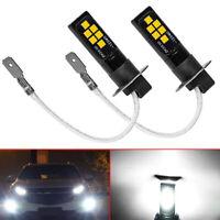 2x H3 LED Bulds Car LED Fog Light Lamp Car Daytime Running Light White 6000K 12V