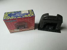 Old Fashioned Metal Pencil Sharpener FIREPLACE w/ Box #6018
