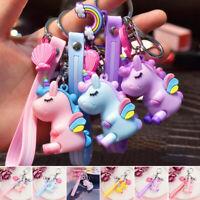 Silicon Unicorn Keychain Keyring Handbag Bag Pendant Charm Girls Kids Party Gift
