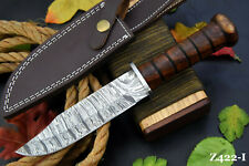 Custom Damascus Steel Hunting Knife Handmade With Walnut Handle (Z422-I)