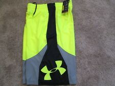 NEW Mens UNDER ARMOUR BASKETBALL Shorts Yellow/Gray/Black SM  FREE SHIPPING!