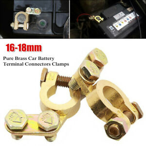 Universal Car SUV Battery Cable Terminal Adapter Top Post Pure Brass Switch Link