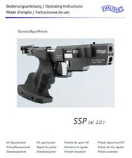 Walther OSP SSP .22 Instruction and Maintenance Manual - English & 3 others