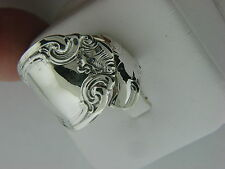 "ANTIQUE ALVIN "" FRENCH SCROLL "" PATTERN S/S X- LARGE SPOON RING SIZE 5 1/2"