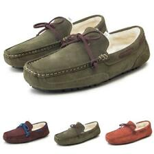 Mens Fur Inside Warm Slip on Flats Casual 38-47 Winter Driving Moccasins Shoes L