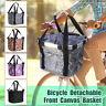 Foldable Cycling Bike Front Basket Bicycle Handlebar Shopping Bag Detachable Hot