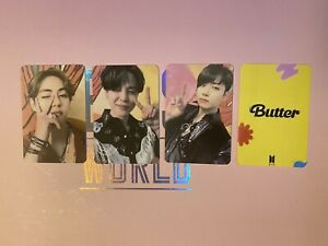 BTS Photocards Butter Lucky Draws Soundwave Jimin Taehyung Jungkook [FANMADE]
