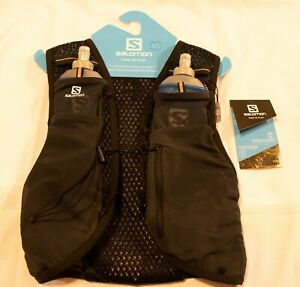 Salomon XS Active Skin 4 Unisex Hydration Vest - FREE SHIPPING, new bottles