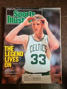 Sports Illustrated Larry Bird March 21 1988 Vintage Celtics Basketball Magazine
