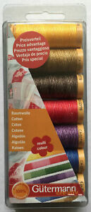Gutermann Cotton 50 Thread Set Multi-Colour - 7 REELS 100m Patchwork & Quilting