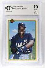1990 Bowman Frank Thomas Baseball Card #320 BCCG 10 Mint