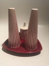 Hornsea Pottery Summit Series John Clappison, Cruet 4 Piece, Salt Pepper Mustard