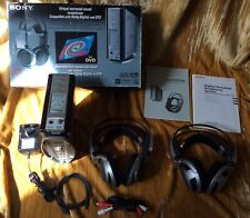 Sony MDR-DS5100 5.1 Virtual Surround Sound System DTS/Dolby+2Sets Headphones VGC