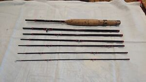 """Hardy Graphite Smuggler Deluxe - #6 - 8' 2.5"""" - 6PC Maroon Fishing Rod"""
