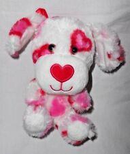 Build a Bear Smallfry Hearts a Plenty Puppy Dog Plush Stuffed Animal Red Pink
