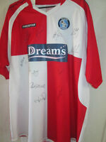 Wycombe Wanderers Away Football Shirt Signed by 2008-2009 Squad with COA /14246