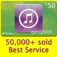$50 APPLE US iTunes GIFT CARD voucher certificate FAST (USA iTunes Store)