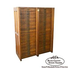 Hamilton Oak 76 Drawer Flat File Wood Type Letterpress Printers Cabinet (A)
