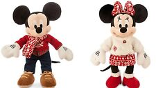 Disney Store Minnie Mickey Mouse Christmas Plush Toy Exclusive 2015 Limited New