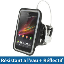 Noir Armband Brassard Antidérapant pour Sony Xperia Z Android Smartphone
