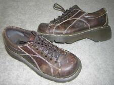 DR./DOC MARTENS 6-Eye Brown Grizzly Leather Casual Oxford Shoes Women's Sz US 8