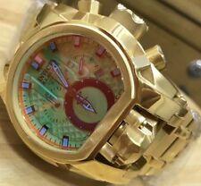 New w/Box Invicta Reserve Men Bolt Zeus Magnum Iridescent Dial Gold Steel Watch