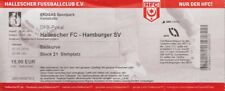 Ticket 2016/17 Pokal Hallescher FC HFC - Hamburger SV HSV Eintrittskarte Sammler