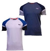 Superdry Mens New Engineered Baseball Short Sleeve T Shirt Blue White