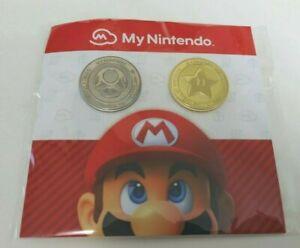 My Nintendo Platinum Point and Gold Point Coins Pin Set 2021 Mushroom Star Mario