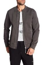 Helmut Lang Textured Twill Bomber Jacket - charcoal - XXL - BRAND NEW