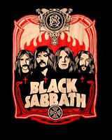 BLACK SABBATH cd lgo RED FLAMES Official SHIRT XXL 2X New ozzy osbourne