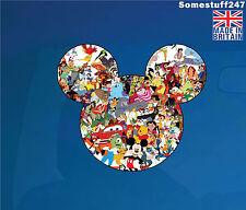 Mickey Mouse Head Silhouette Disney Car Decal Wall Art Laptop Sticker-MMAC1
