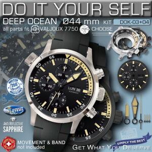 DO IT YOURSELF KIT: 7750 ETA-VALJOUX, DEEP OCEAN, 44 MM, 200M,  KIT 03+04,