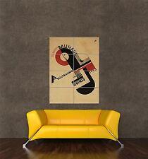 GIGANTE STAMPA POSTER VINTAGE Pubblicità Bauhaus Weimar icona Germania PDC075