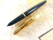 Teal Blue Parker 51 Vacumatic Fountain Pen - restored
