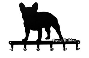 Schlüsselbrett - Französische Bulldogge - French Bulldog - Hakenleiste aus Stahl