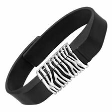 Accessory in Stainless Steel beFitting Zebra Print Fitness Band