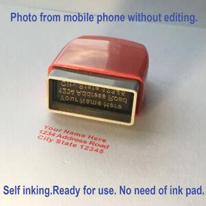 Stempel Adressstempel Namensstempel taschenstempel stempel selbstfärber 30x10mm