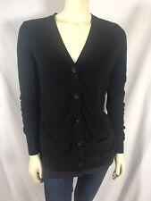 CAbi Black Windbreaker Cardigan Sweater Size M Contrast Knit 5143 Drawstring