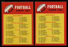 1971 OPC O-PEE-CHEE CFL~#132~TWO (2) UNMARKED CHECKLISTS~VENDING & WAX
