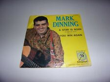 "Mark Dinning: A Star Is Born 7"" Picture Sleeve Only 1960"