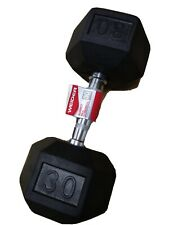 Weider 30Lb Pound Rubber Coated Hex Dumbbell Weight Gym New FAST FREE SHIPPING