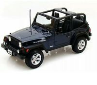 Diecast Model Car 1:18 Scale - Maisto Jeep Wrangler Rubicon Blue Special Edition