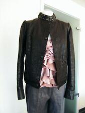 HUGO BOSS edle Biker-Jacke Leather Jacket Blouson super weiches Leder 36 NEU